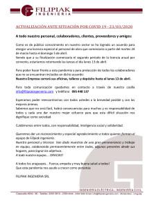4º COMUNICADO COVID 19